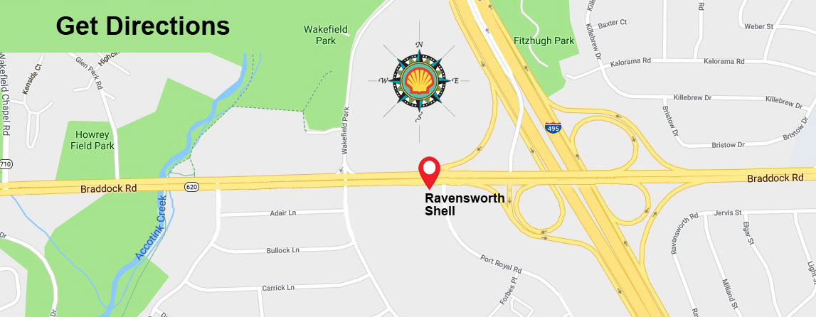 Map of the Springfield Area surrounding Ravensworth Shell